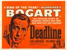 Deadline - U.S.A. - British Movie Poster (xs thumbnail)