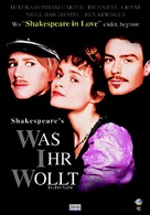 Twelfth Night: Or What You Will - German DVD cover (xs thumbnail)
