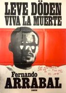 Viva la muerte - Swedish Movie Poster (xs thumbnail)