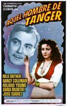 Aquel hombre de Tánger - Spanish Movie Poster (xs thumbnail)