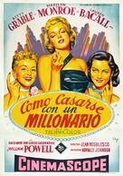 How to Marry a Millionaire - Spanish Movie Poster (xs thumbnail)