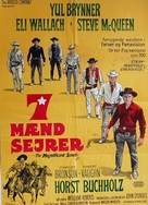 The Magnificent Seven - Danish Movie Poster (xs thumbnail)