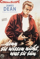 Rebel Without a Cause - German Movie Poster (xs thumbnail)