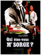 Qui êtes-vous, Monsieur Sorge? - French Movie Poster (xs thumbnail)