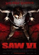 Saw VI - German Movie Poster (xs thumbnail)