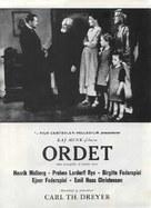 Ordet - Danish Movie Poster (xs thumbnail)