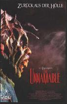 The Unnamable - German DVD cover (xs thumbnail)