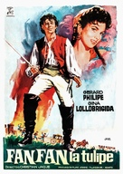 Fanfan la Tulipe - Spanish Movie Poster (xs thumbnail)