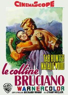 The Burning Hills - Italian Movie Poster (xs thumbnail)
