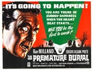 Premature Burial - British Movie Poster (xs thumbnail)