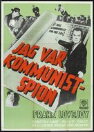 I Was a Communist for the FBI - Swedish Movie Poster (xs thumbnail)