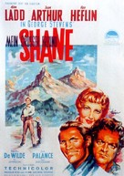 Shane - German Theatrical movie poster (xs thumbnail)
