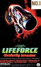 Lifeforce - Danish VHS movie cover (xs thumbnail)