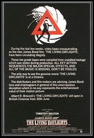 The Living Daylights - British Movie Poster (xs thumbnail)