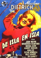 Seven Sinners - Spanish Movie Poster (xs thumbnail)