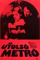 Le dernier métro - Hungarian Movie Poster (xs thumbnail)