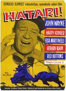 Hatari! - Danish Movie Poster (xs thumbnail)