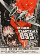 633 Squadron - Danish Movie Poster (xs thumbnail)
