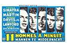 Ocean's Eleven - Belgian Movie Poster (xs thumbnail)