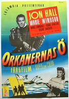 Hurricane Island - Swedish Movie Poster (xs thumbnail)