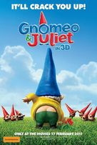 Gnomeo and Juliet - Australian Movie Poster (xs thumbnail)