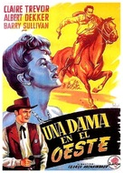 The Woman of the Town - Spanish Movie Poster (xs thumbnail)