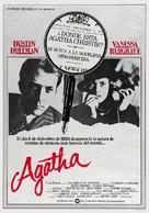 Agatha - Spanish Movie Poster (xs thumbnail)