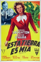 This Land Is Mine - Argentinian Movie Poster (xs thumbnail)