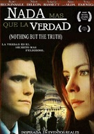 Nothing But the Truth - Argentinian DVD movie cover (xs thumbnail)