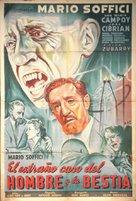 El extraño caso del hombre y la bestia - Argentinian Movie Poster (xs thumbnail)