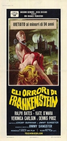 The Horror of Frankenstein - Italian Movie Poster (xs thumbnail)