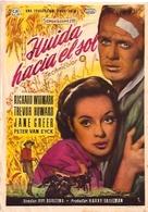 Run for the Sun - Spanish Movie Poster (xs thumbnail)