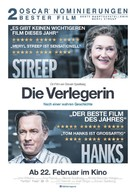 The Post - German Movie Poster (xs thumbnail)