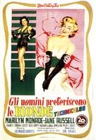 Gentlemen Prefer Blondes - Italian Movie Poster (xs thumbnail)