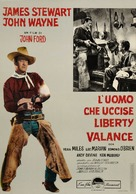The Man Who Shot Liberty Valance - Italian Movie Poster (xs thumbnail)