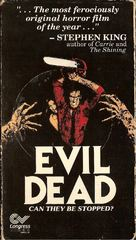 The Evil Dead - VHS movie cover (xs thumbnail)