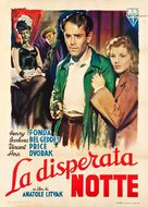 The Long Night - Italian Movie Poster (xs thumbnail)