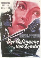 The Prisoner of Zenda - German Movie Poster (xs thumbnail)