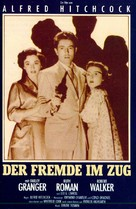 Strangers on a Train - German VHS movie cover (xs thumbnail)