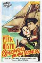 The World in His Arms - Spanish Movie Poster (xs thumbnail)