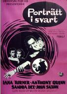 Portrait in Black - Swedish Movie Poster (xs thumbnail)