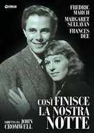 So Ends Our Night - Italian DVD movie cover (xs thumbnail)