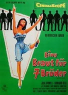 Seven Brides for Seven Brothers - German Movie Poster (xs thumbnail)