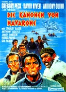 The Guns of Navarone - German Movie Poster (xs thumbnail)