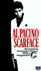 Scarface - British VHS movie cover (xs thumbnail)
