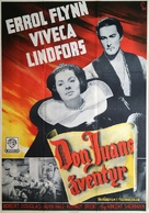 Adventures of Don Juan - Swedish Movie Poster (xs thumbnail)