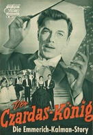 Der Czardas-König - German poster (xs thumbnail)