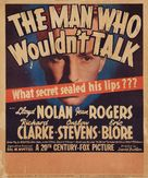 The Man Who Wouldn't Talk - Movie Poster (xs thumbnail)