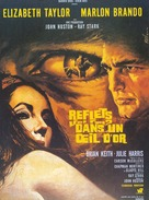 Reflections in a Golden Eye - French Movie Poster (xs thumbnail)