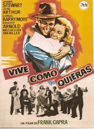 You Can't Take It with You - Spanish Movie Poster (xs thumbnail)